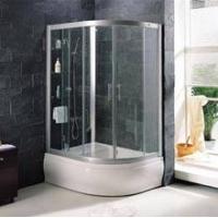 陕西西安雅立淋浴房系列( 圆弧型置物架中缸推拉双门 )
