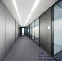 威海玻璃隔断|办公室玻璃隔墙|铝合金百叶隔断