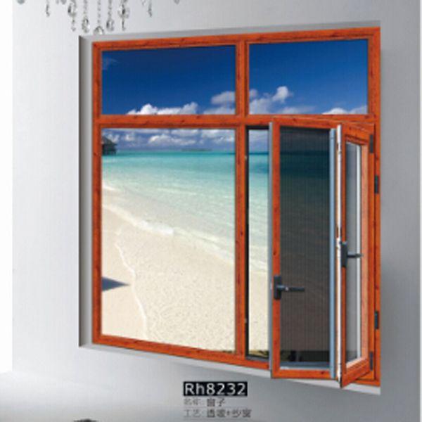 爱情岛門窗 窗子Rh8232 透玻+紗窗