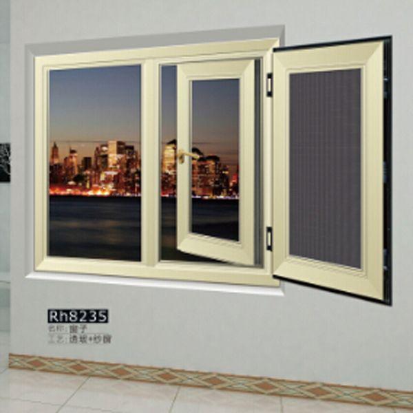 爱情岛門窗 窗子Rh8235 透玻+紗窗