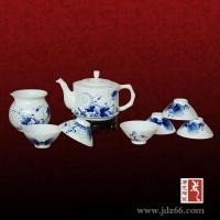 年终礼品茶具 景德镇手绘茶具 高档陶瓷茶具