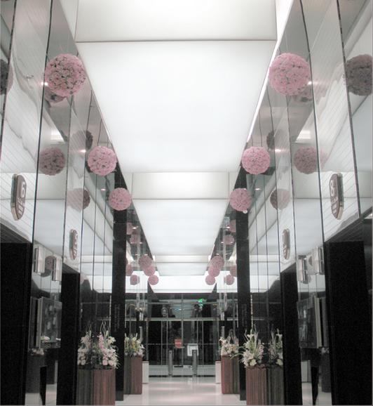 手机店软膜灯箱柜台展示喷绘软膜天花