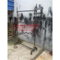 铸铁脚铁艺挂衣架  销量第一的铁艺服装展示架