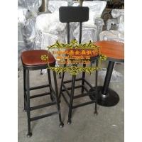 上海松江工厂星巴克吧台桌椅 高吧台 高吧椅
