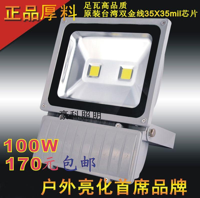 100WLED泛光灯 双灯珠100WLED集成投光灯 高品质