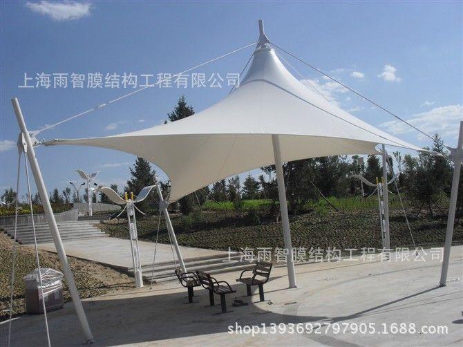 雨智膜结构车棚,屋面膜结构,钢结构车篷