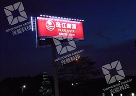 太阳能LED广告牌照明灯
