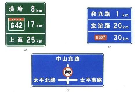 城市道路交通指示牌