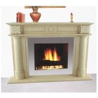 众鑫石材-异型石材-浅色壁炉