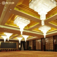 厂家供应酒店大厅水晶吊灯 大堂水晶灯 豪华大气典雅