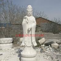 品质好工艺好汉白玉石雕滴水观音 首选丰路雕塑