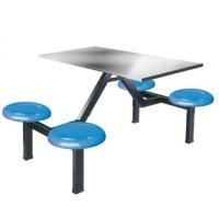 合肥食堂餐桌椅四人位不锈钢面餐桌椅