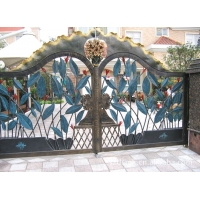铁艺门花、铁艺围栏图、铁艺大门、小区大门