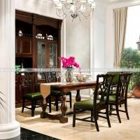 实木餐桌椅系列原木制作