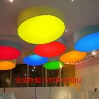 上海软膜百种颜色造型装饰=精印膜喷绘
