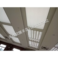 上海透光布银行大厅吊顶软膜制作=定制天花材料