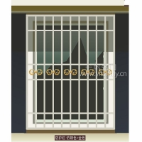 一帆门业-扶手/围栏系列防护栏-仿钢色+金色