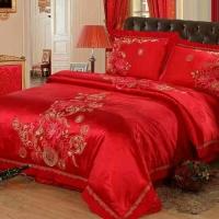 富贵花开 纯棉四件套床上用品套件婚庆多件套