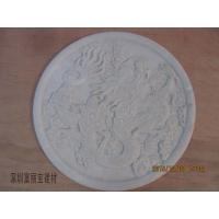 深圳人造石供应灰色人造石东方雕刻 龙形浮雕来图定制