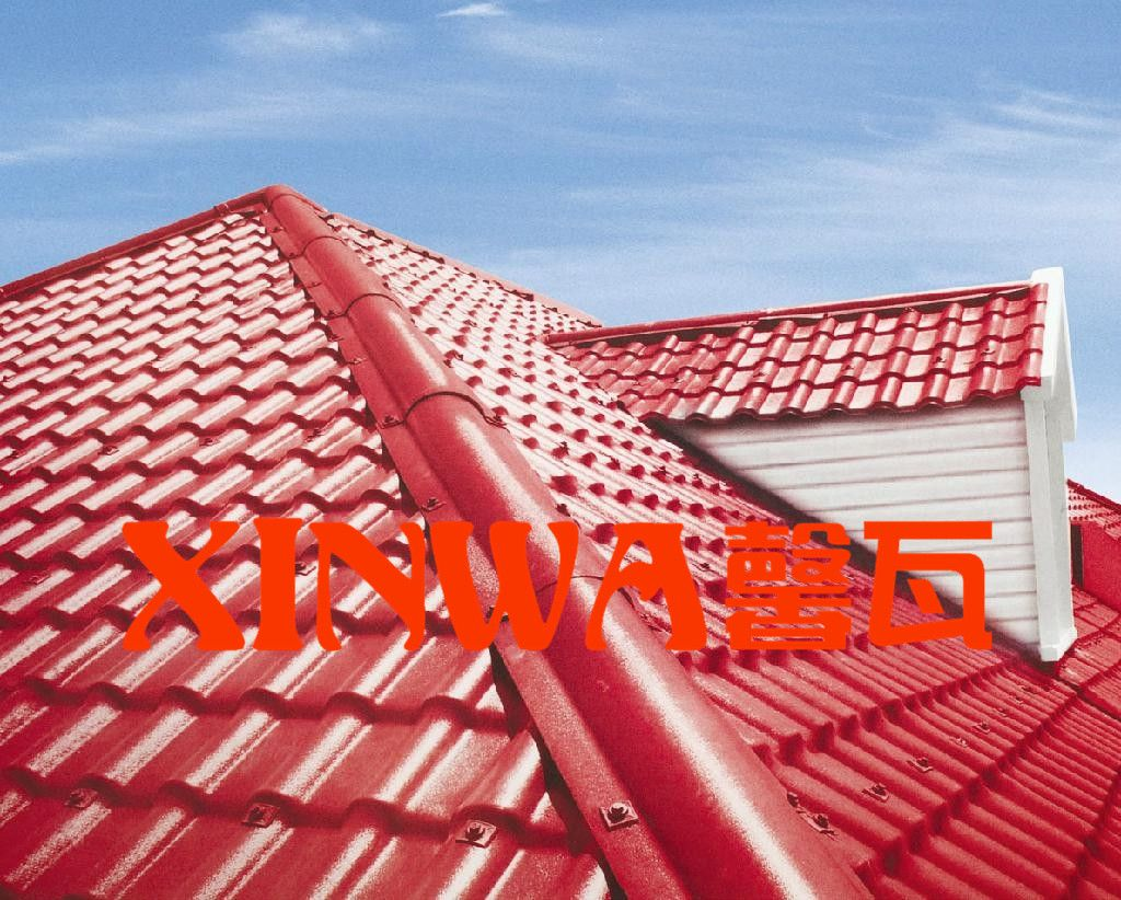 推荐合成屋顶塑料瓦波浪别墅屋面瓦佛山合成树脂瓦