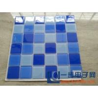 供应海南蓝色水晶马赛克-游泳池防滑专用瓷砖