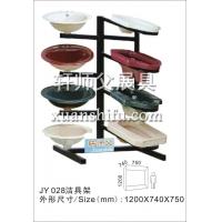 洗手盆摆放架子 蹲便器展示架 玻璃盆陈列展览柜