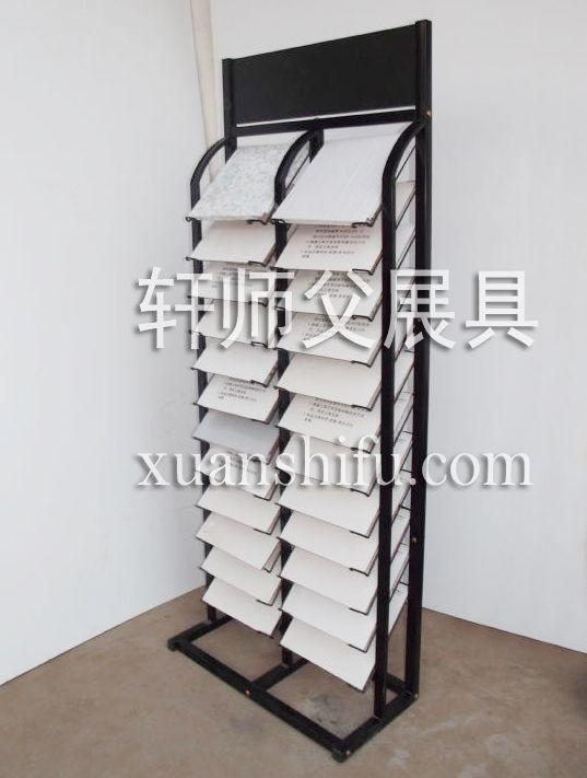 0天花板 集成吊顶展示架 瓷片摆放架 木板 石材