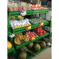 三层水果货架超市 四层金属展示架蔬菜展架果蔬架子
