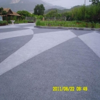 品石透水地坪做法 透水混凝土购买样册免费供应