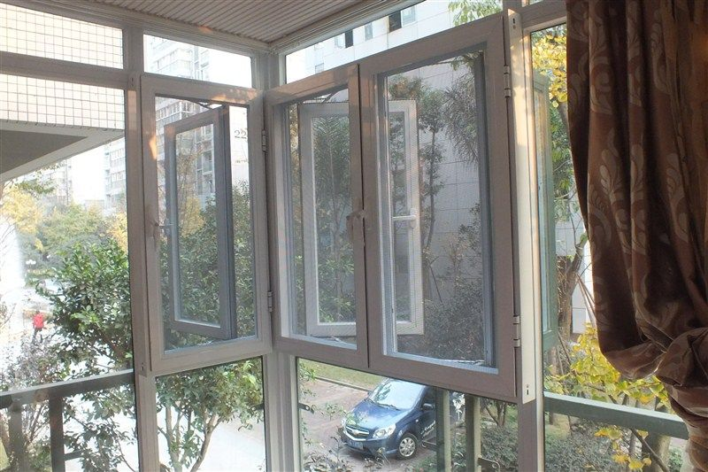 窗纱一体断桥平开窗 防盗二合一平开门窗