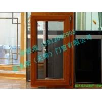 铝木复合金刚网一体窗 天津德奥斯门窗 别墅门窗