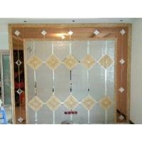 定制艺术拼镜玻璃影视墙菱形新款 HC-0011