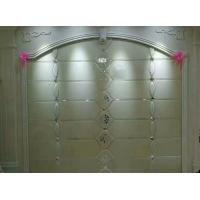 常州定制夹丝玻璃背景墙 异形拼镜HC-012