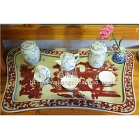 夏天喝茶品茶用品/陶瓷茶盘