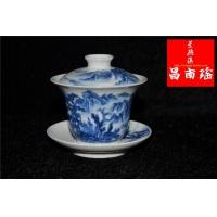 景德镇手绘工艺陶瓷盖碗