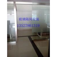 广州办公室玻璃隔断墙安装价格有框无框玻璃门安装