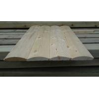 木质半圆外墙扣板木屋木别墅的外墙弧形挂板板