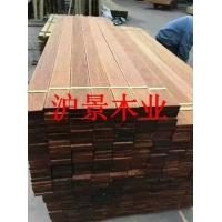 专业生产加工优质户外园林景观拉防滑槽菠萝格地板