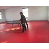乒乓球场专用地胶|PVC运动地胶|高弹高耐磨|跃虹体育