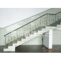 钢架楼梯 铁艺扶手 阳台护栏制作
