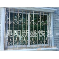 铁艺隔断 铁艺防护窗防盗窗  铁艺栅栏