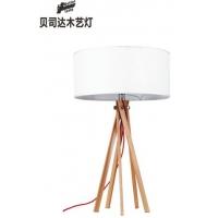 木艺灯具/木质灯具/简约台灯