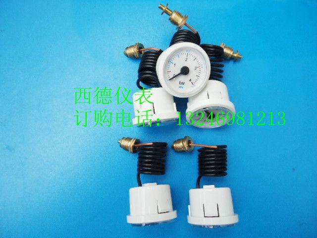 37MMM白壳0-4BAR带毛细管壁挂炉压力表,燃气壁挂炉水