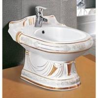 亚陶洁具-妇洗器(浮雕银白彩金)YLA-888