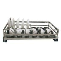 威尔特方管阻尼拉篮系列不锈钢方管碗架(两用)