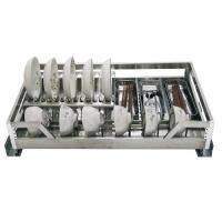 威尔特方管阻尼拉篮系列加宽不锈钢方管四边碗架(两用)