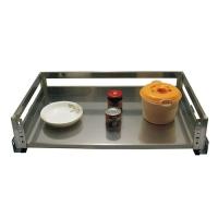 威尔特新款不锈钢板式阻尼拉篮系列不锈钢板板式三边锅架
