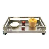 威尔特新款不锈钢板式阻尼拉篮系列不锈钢板板式四边锅架