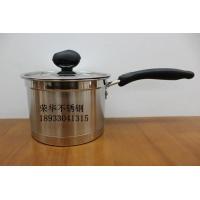 不锈钢直角汤锅奶锅复底直角锅