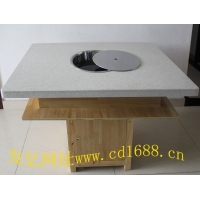 电磁炉火锅桌-火锅桌椅-大理石火锅桌